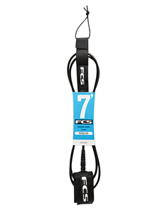 FCS 7' Regular Leash 7mm Black