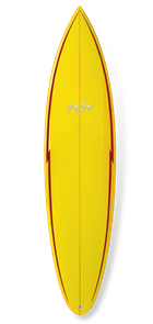 Gerry Lopez Pocket Rocket PU Tri-fin, Yellow, 6'4