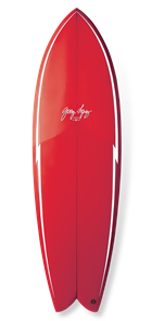 GERRY LOPEZ Something Fishy PU Quad-fin, Red, 6'0