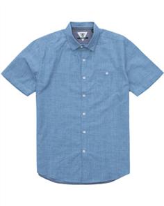 Vissla HAPPENS Mens Shirt, Blue Fog