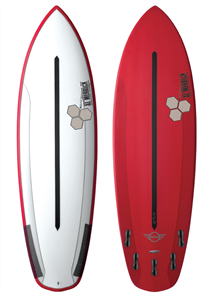 Channel Islands Mini Fusion Dual-Core Surfboard - Clear/Red