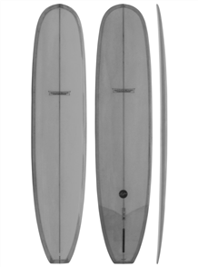 Modern Retro PU Tech Noserider Longboard, Cool Grey Tint