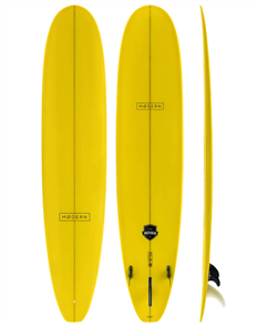 Modern The Boss Classic PU Tech Longboard, Yellow Tint