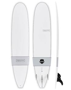 Modern The Boss X1 Tech Classic Longboard, White Grey