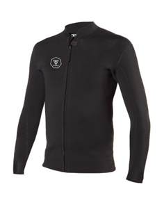 Vissla 2MM FRONT ZIP JACKET, Black With Jade