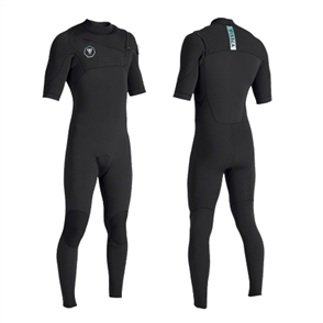 Vissla 7 SEAS 2/2mm Short Sleeve FULL SUIT, Black With Jade