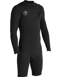 Vissla 7 SEAS 2/2mm LS SPRING SUIT, Black With Jade