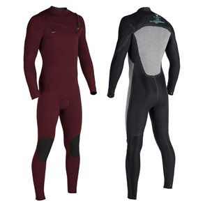 Vissla Seven Seas 3/2mm Full Chest Zip, Wine