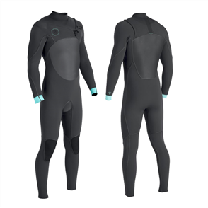 Vissla North Seas 3/2mm Full Chest Zip, Black