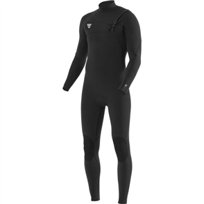 Vissla SEVEN SEAS 3/2mm FULL CHEST ZIP LS STEAMER, Black