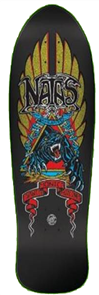Santa Cruz Natas Panther Metallic Reissue Skate Deck, 10.538in x 30.14in