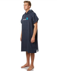 FCS Mens Chamois Hooded Towel - Navy