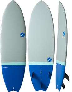 NSP 2017 06 Elements HDT Fish Surfboard, Grey