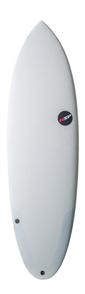 NSP Protech Hybrid Glacier Surfboard, Grey