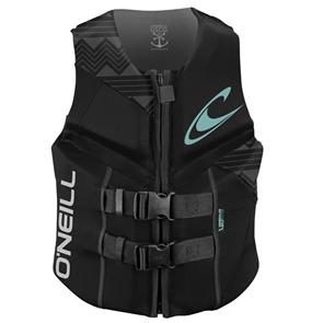 Oneill Womens Reactor Uscg Vest, A05 Black Black