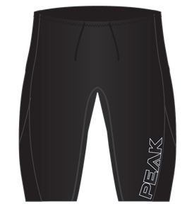 Peak 1.5mm Mens Energy wetsuit Shorts, Black
