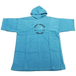Sticky Johnson Palm Wave Hooded Towel Unisex, Aqua