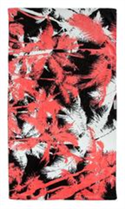 LEUS 100% Cotton Print Beach Towel, Palm Pam
