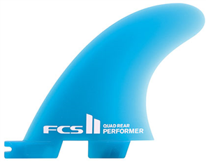 FCS II Performer Neo Glass Medium Quad Rear Retail Fins