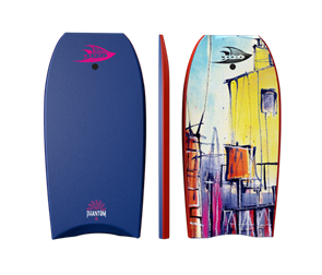 Manta Phantom PE Bodyboard, 2017-18, Navy, Size 38""