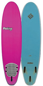 Platino Soft Surfboard, Pink/Steel