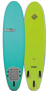 Platino HDPE Soft Surfboard, TURQUOISE/LIME