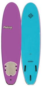 Platino HDPE Soft Surfboard, VIOLET/BLU CARACAO