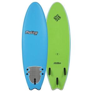 Platino HDPE Fish Soft Surfboard, AZ BLUE/LIME