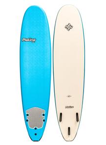 Platino HDPE Malibu Soft Surfboard, AZ BLUE/WHITE
