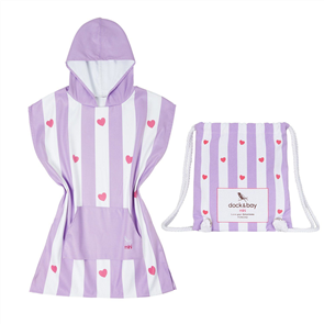 Dock & Bay Kids Poncho, Lovely Violet