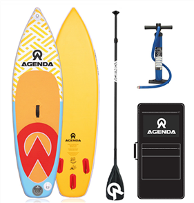 Agenda Prodigy SS Kids iSup 8'6 Combo with Alloy Paddle and 10ft Leash