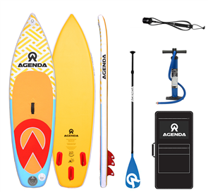 Agenda Prodigy Youth iSup 8'6 Combo with F/Glass Paddle & 9ft Leash