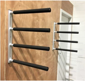 Curve Surfboard Wall Rack - Quad Aluminium
