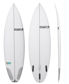 Pyzel Radius Performance Surfboard with Futures 5 Fin Fins