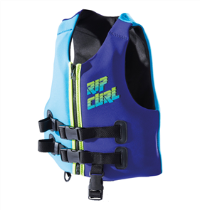 Rip Curl Youth Omega Buoyancy Vest, Blue