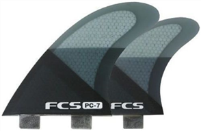 FCS I PC-7 Smoke Slice Quad Retail Fins