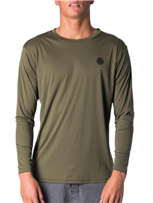 Rip Curl Search Surflite Long Sleeve Uv Tee, 0854 Military Green