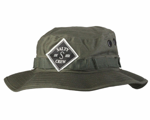 Salty Crew Tippet Patched Bucket Hat, Olive