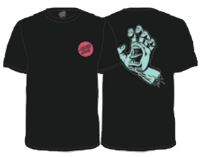 Santa Cruz Screaming Hand Tee, Black