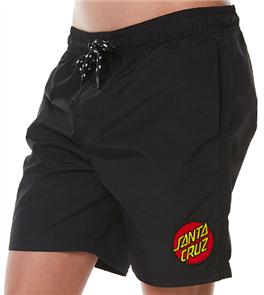 Santa Cruz Cruzier Beach Youth Short, Black