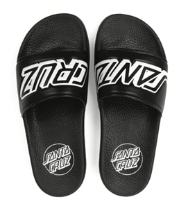 Santa Cruz Classic Strip Slide Sandal, Black, Mens US Size 7