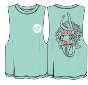 Santa Cruz Mermaid Muscle Tee, Seafoam