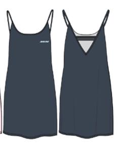 Santa Cruz Strip V-Back Dress, Phantom