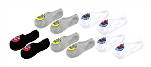 Santa Cruz Pop Dot No Show Sock 5 Pairs, Assorted