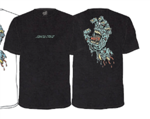 Santa Cruz Decay Hand Tee, Washed Black