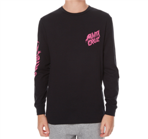 Santa Cruz Og Slasher Long Sleeve Youth Tee, Black