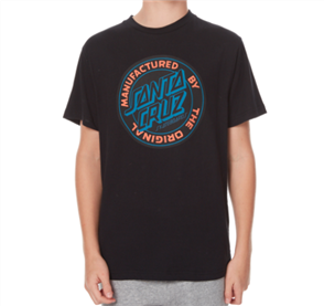 Santa Cruz Original Dot Youth Tee, Black