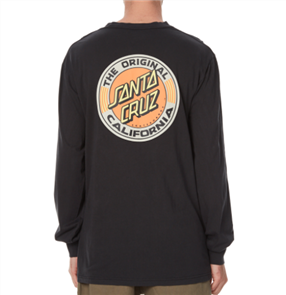 Santa Cruz Heritage Dot Long Sleeve Tee, Od Black