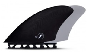 Futures Fiberglass Fk2 Keel Twin Fin Set, Black Grey