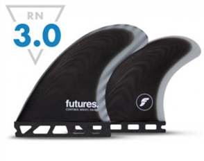 Futures EA Quad Control Series Fin set, Black Grey